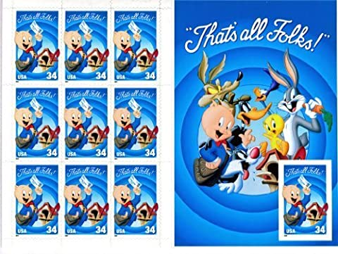 Looney Tunes Porky Pig Collectible Stamp Sheet by USPS