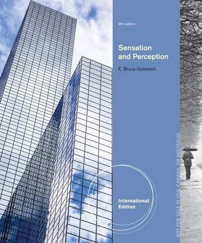Sensation and Perception (International Edition)