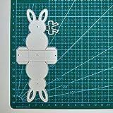 Shilia Excellent Pasqua 3D Coniglio Coniglietto Case Metallo Fustella DIY Scrapbooking Stencil Carta 01