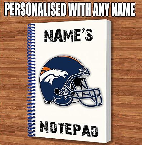 American Football NFL Personalisiertes Geschenk–Denver Broncos A5Coil Gebundenes Notizbuch