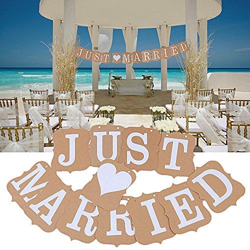 lista dei prezzi Lettere MR e MRS Scritta Bianco Just Married Ghirlande Striscioni Bunting Banner Decorazione Tavolo Matrimonio Nozze