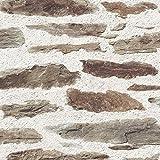Muriva imitation brique mur en pierre style rustique effet réaliste J98707 Papier peint