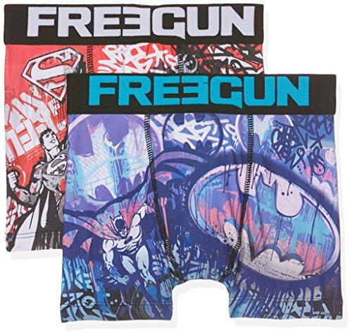 Freegun Justice League Freegun Justice Leagueboxer Packx2, Boxer Bambino,  Mehrfarbig (Multicolor A10)