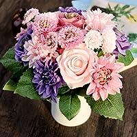 EQLEF® Fiori artificiali Rose Daisy sposa Bouquet