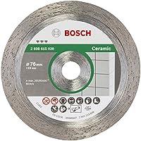 Bosch 2608615020 Diamanttrennscheibe Best for Ceramic 76x1,9x10 mm, 1 W, 240 V