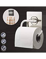 Getko With Device Wall Mounted Napkin Holder Self-Adhesive Bathroom Towel Ring Holder Open Half Roll Paper Holder for Kitchen (White)