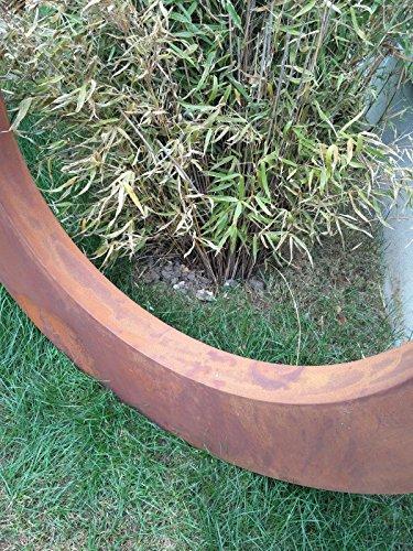 Edelrost Gartenstecker Rost Gartenskulptur aus Metall Garten Figure Glück Symbol Gartendeko H100*100*5 cm 101514