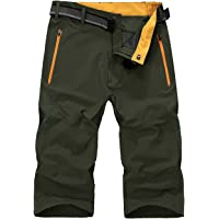 KEFITEVD Men's 3/4 Quick Dry Hiking Safari Shorts Summer Thin Lightweight Shorts Outdoor Walking Short Pants
