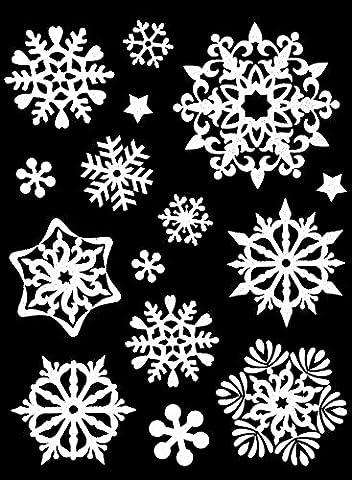 Weihnachts-Fensterdeko Schneeflocken Schnee-Fenster-Bilder Weihnachten 15 Stk.