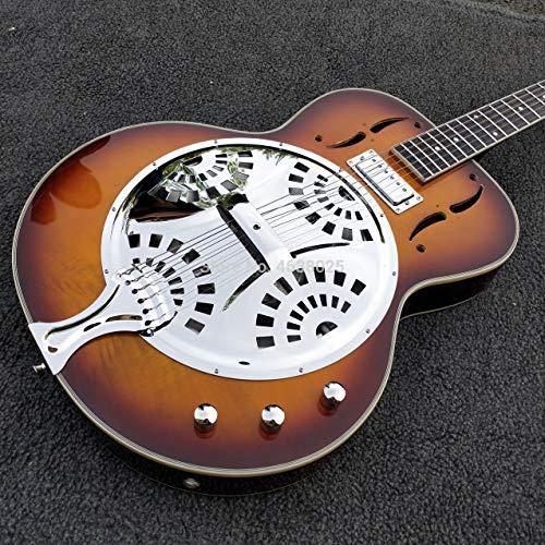 Vintage Sunburst Dobro Resonator Steel E-Gitarre Palisander Griffbrett Dobro Gitarre