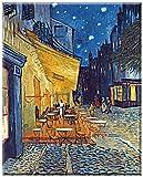 Digitaldruck (Giclee) auf Leinwand gedruckt, mit Keilrahmen , Kunst aus dem Museum, Wandbild, NACHTCAFE, Cafe de nuit, Bild von Vincent van Gogh , Kunstartikel Leinwandbild , Fertigbild 60 x 75 cm, klassische Kunst
