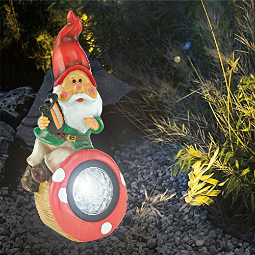 2-set-LED-garden-GNOME-solar-light-mushroom-decoration-stone-outdoor-lamps-terrace