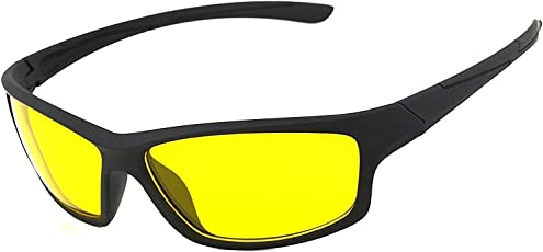 LUMONY Unisex Day and Night HD Vision Anti-Glare UV Protected Polarized Sunglass for Car Drivers