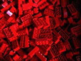 LEGO CITY -  100 STEINE MIT 2x4 Noppen IN ROT - BASIC STEINE - 3001