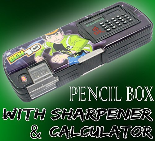 Generic Kids Multi Purpose Pencil Pen Case Storage Box Sharpener With Calculator - 45