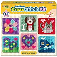 Unibos Kreative Kids Set Of 6 Cross Stitch Boards For Children Tapestry Sewing Craft Set New