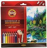 KOH-I-NOOR 3713 Mondeluz Aquarellstifte Set, farblich sortiert (48 Stück)
