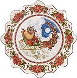 Villeroy & Boch Toy's Fantasy Piatto Dolci Grande Babbo Natale, Porcellana, Bianco/Rosso