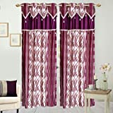 Hargunz Eyelet polyester door curtains-L...