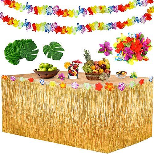 Yojoloin Falda Mesa Luau Hawaiana Juego decoración