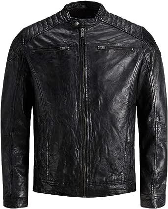 Jack & Jones Men's Jjeliam Leather Jacket Noos