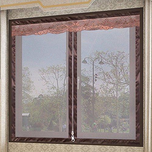 Attrezzi per porta zanzariera,zanzariere per finestre, schermo magnetico, zip super-sigillante dall'alto verso il basso si chiude all'istante, facile installazione senza spazi vuoti, rete protettiva, blocco efficace degli insetti, zanzare,100*150cm