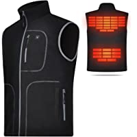 COVVY Heated Vest for Men Electric Warm Outerwear/w Battery Pack, Washable