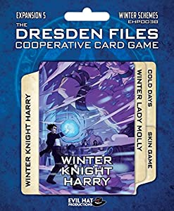 Evil Tiene Productions ehp00038Dresden Files: Cooperative Card Game Expansion 5de Invierno schemes