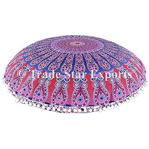 Grande Mandala pavimento Cuscino decorativo, Ombre, Coperta,