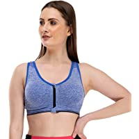 Mysha Women's Nylon & Cotton Padded, With Removable Pads Non-Wired Sports Bra