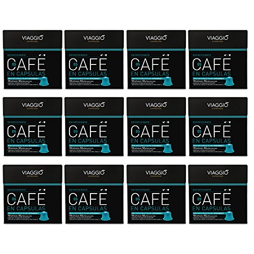 VIAGGIO ESPRESSO - 120 Cápsulas de Café Compatibles con Máquinas Nespresso - DECAFFEINATO