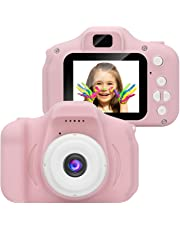 TEQIN Kids Digital Video Camera Mini Rechargeable Children Camera Shockproof 8MP HD Toddler Cameras Child Camcorder Pink