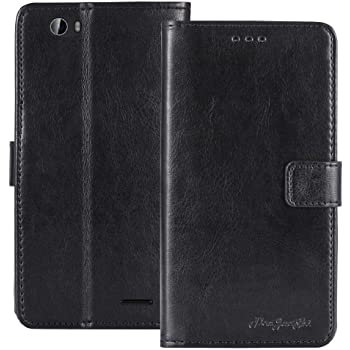 716d270386ba6 TienJueShi Black Book-Style Flip Leather Protector Case Cover Skin Etui  Wallet For Stk Life