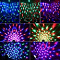 Blingco Mini Disco DJ Stage Lights 3W LED RGB Sound Actived Crystal Magic Rotating Ball Lights Effect For KTV Xmas Party Wedding Show Club Pub Color Changing Lighting