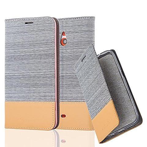 Cadorabo - Etui Housse pour Nokia Lumia 1320 - Coque Case Cover Bumper Portefeuille en Design Tissue-Similicuir avec Stand Horizontale, Fentes pour Cartes et Fermeture Magnétique Invisible in