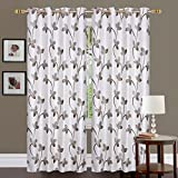 #2: Fresh From Loom 2 Piece Eyelet Polyester Window Curtain - 5ft, Coffee