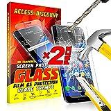 *** INCASSABLE X2 *** 2 FILM PROTECTION Ecran en VERRE Trempé pour SAMSUNG GALAXY J7 2016 filtre protecteur d'écran INVISIBLE & INRAYABLE vitre pour Smartphone J 7 6 SM-J710FN J7 6 or duos 4G
