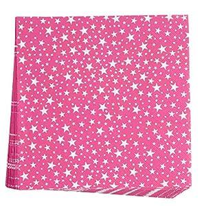Neviti 678092Carnaval 20unidades), diseño de estrellas, color rosa