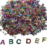 SERWOO 60g Coriandoli Glitter Molticolori Decorazione Fai da Te per Melma Slime Feste Matrimonio Battesimo (60g Lettera)