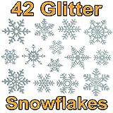 Articlings Fensteraufkleber im Schneeflocken-Design