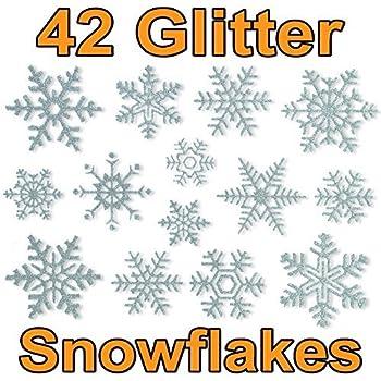 Articlings 42 glitter snowflake window clings