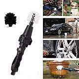 Etbotu Portable Brosse de nettoyage pour voitures, DE L'Eau par rotatif, Noir Couleur