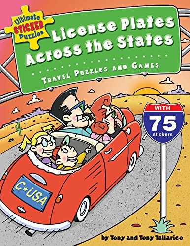Ultimate Sticker Puzzles: License Plates Across the States: Travel Puzzles and Games -