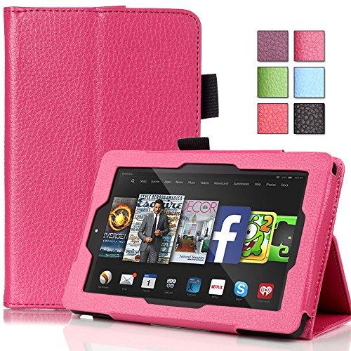 PASONOMI UK-B-001KindleHD6 Tablet-Schutzhülle, Amazon Fire HD 6 Inch, Lichee Hot Pink (Intel Tablet Atom)