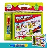 BBLIKE Malbücher mit wasser, Wasser Wow Malbuch,wiederverwendbare Water Painting Kits Ein Buch Plus 2 Magic Water Pens für Kinder Tracing Zeichnen (Alphabet)