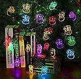 Solarbetriebene Wasserdicht 4,8 Mt 20 LED Weihnachtsmann Weihnachtsbäume Lichter String Dekoration, Lichter Lampe zu Dekorieren Ihr Haus, Garten, Hochzeit (5 Mt, 20-Santa-Claus, Multi-Farbe)