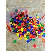 Aimitoysidy 3.3cm Schneeflocken mediume Blöcke Gebäude Baukasten DIY Spielzeug (256pcs) Set-Box preisvergleich bei kleinkindspielzeugpreise.eu