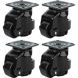 4 stks Niveau Aanpassing Caster Intrekbare Werkbank Caster Zware Nivellering Caster Wielen Industriële Roller Voor Bewegende