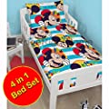 Mickey Mouse Boo 4 In 1 Junior Bedding Bundle + FREE Pack Stickers