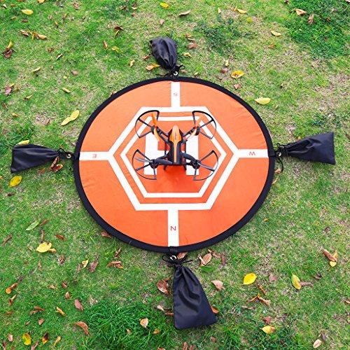 Virhuck-80cm-Landing-Pad-per-RC-Drone-Quadcopter-Helicopter-4-Punti-Fissi-Impermeabile-Pieghevole-Pad-di-Atterraggio-per-DJI-Mavic-Pro-DJI-Spark-DJI-Inspire-Phantom-2-3-4-Syma-X5C-Yuneec-Typhoon-JJRC-
